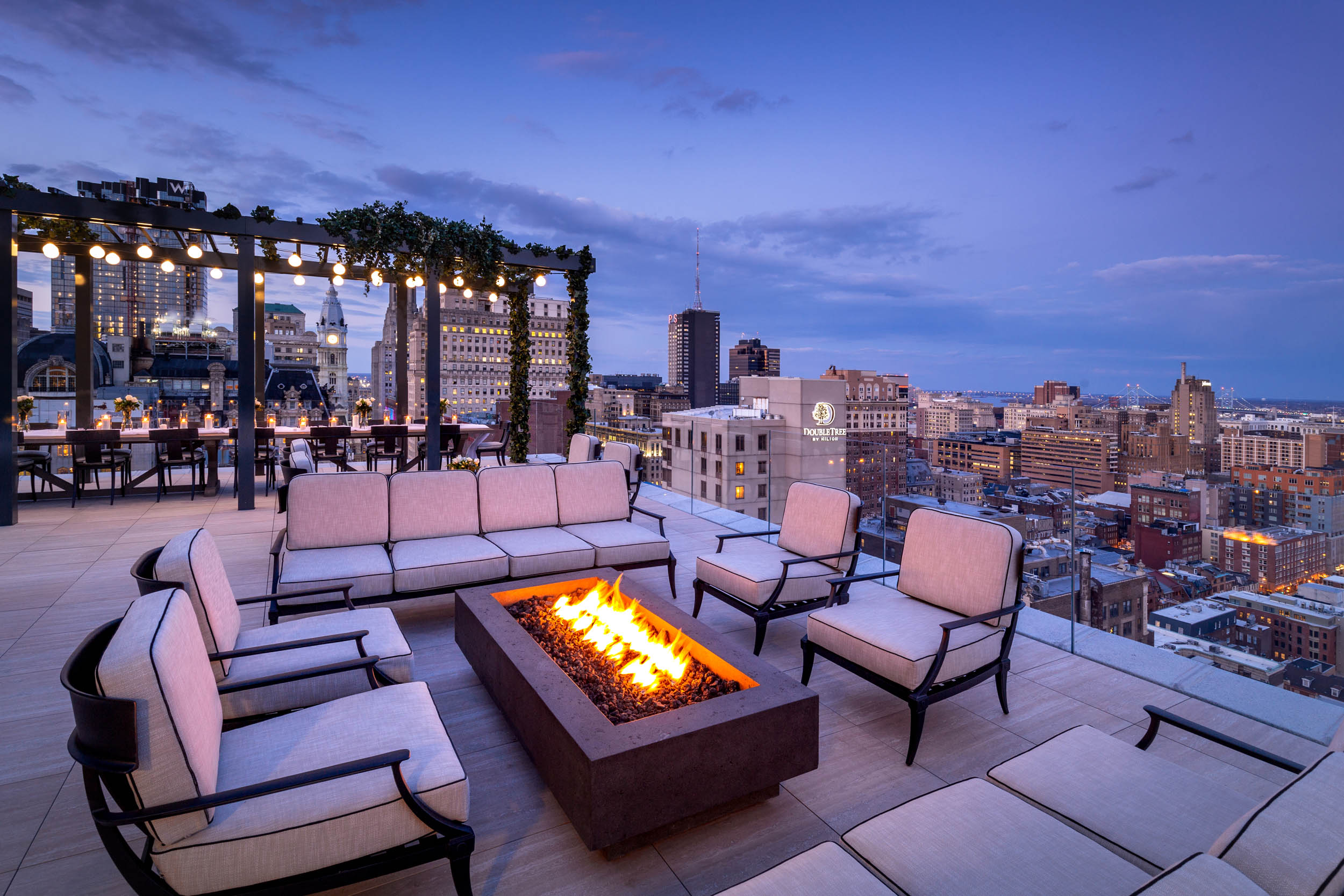 Rooftop Fire Pit Lounge