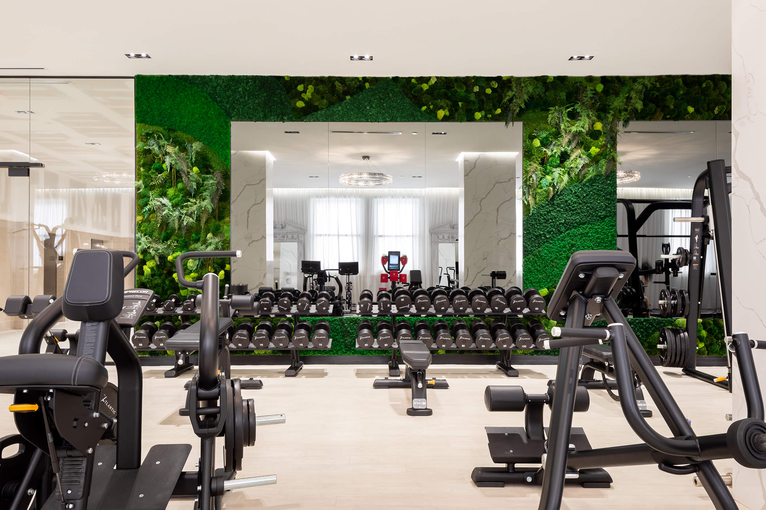 Fitness Center Green Wall